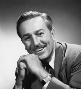 Walt Disney, cartoonist.