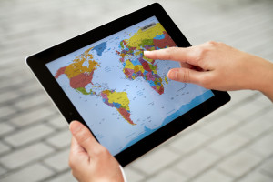 Travel app on Apple iPad