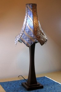 Lamp made from recycled ties