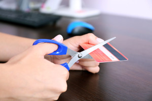 Cut up your credit cards to pay off debt
