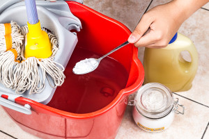 Add Baking Soda To Floor Cleaner For House Cleaning.