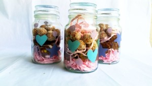Recycled Glass gift Jars