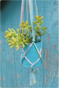 Frilly plant hangers