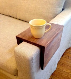 A convenient armrest shelf