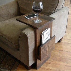Or this armrest shelf with space for your magazines